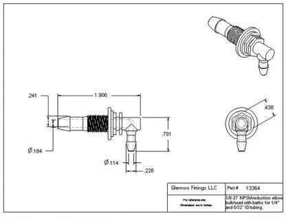 13364 (Reduction Barbed Bulkhead Elbow)