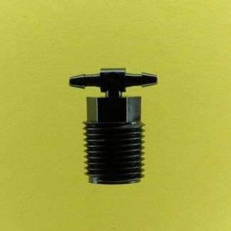 "Black Nylon 1/8"" NPT Threaded Tees"