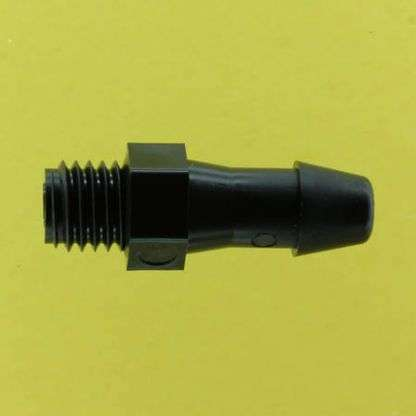 "012502 (Adapters - Thread: 1/4""-28 UNF  Barb: 3/16""  Material: Black Nylon)"