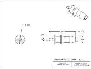 "031705 (Reduction Barb Couplers - Barb1: 3/16""  Barb2: 1/16""  Material: Polypropylene)"