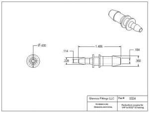 "032405 (Reduction Barb Couplers - Barb1: 1/4""  Barb2: 5/32""  Material: Polypropylene)"