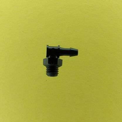 "121202 (Threaded Elbows - Thread: 10-32 UNF  Barb: 3/32""  Material: Black Nylon)"
