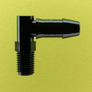 "124602 (Threaded Elbows - Thread: 1/16"" NPT  Barb: 1/4""  Material: Black Nylon)"