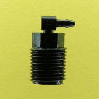 "125102 (Threaded Elbows - Thread: 1/8"" NPT  Barb: 1/16""  Material: Black Nylon)"