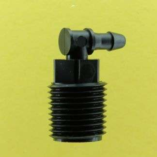 "125202 (Threaded Elbows - Thread: 1/8"" NPT  Barb: 3/32""  Material: Black Nylon)"