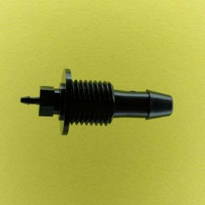"1315102 (Reduction Barbed Bulkheads - Thread: 1/4"" NPSM  Barb1: 1/4""  Barb2: 1/16""  Material: Black Nylon)"