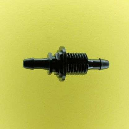 "1315502 (Reduction Barbed Bulkheads - Thread: 1/4"" NPSM  Barb1: 1/4""  Barb2: 3/16""  Material: Black Nylon)"