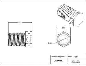 "161405 (Threaded Plugs - Thread: 1/16"" NPT  Material: Polypropylene)"