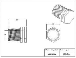"161505 (Threaded Plugs - Thread: 1/8"" NPT  Material: Polypropylene)"