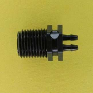"0130102 (Manifold Adapter - Thread: 1/8"" NPT Barbs: 1/16"" Material: Black Nylon)"