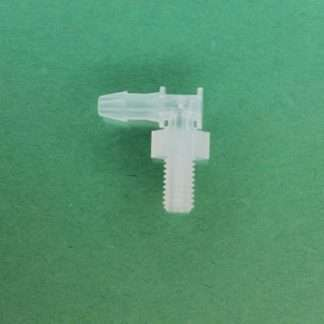 "1320322 (Panel Mounts Elbow - Thread: 10-32 UNF Barb: 1/8"" Material: Natural Kynar)"