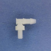 "1320407 (Panel Mounts Elbow - Thread: 10-32 UNF Barb: 5/32"" Material: Natural Nylon)"