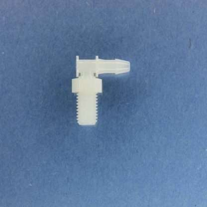 "1322307 (Panel Mounts Elbow - Thread: 1/4-28 UNF Barb: 1/8"" Material: Natural Nylon)"