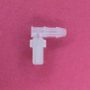 "1322405 (Panel Mounts Elbow - Thread: 1/4-28 UNF Barb: 5/32"" Material: Polypropylene)"