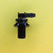 "1324302 (Panel Mounts Elbow - Thread: 5/16-24 UNF Barb: 1/8"" Material: Black Nylon)"