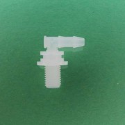 "1324422 (Panel Mounts Elbow - Thread: 5/16-24 UNF Barb: 5/32"" Material: Natural Kynar)"