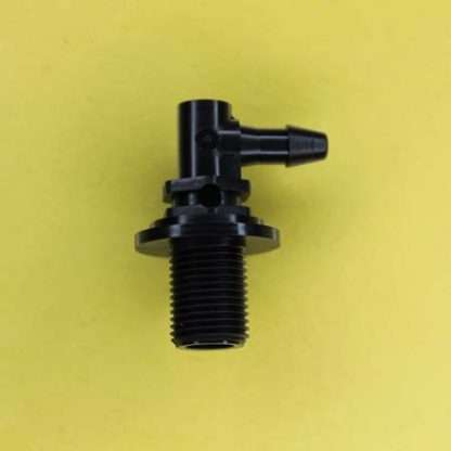 "1326402 (Panel Mounts Elbow - Thread: 1/8 NPS Barb: 5/32"" Material: Black Nylon)"