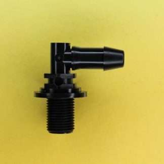 "1326602 (Panel Mounts Elbow - Thread: 1/8 NPS Barb: 1/4"" Material: Black Nylon)"