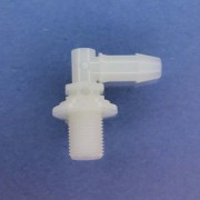 "1326607 (Panel Mounts Elbow - Thread: 1/8 NPS Barb: 1/4"" Material: Natural Nylon)"