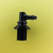 "1328402 (Panel Mounts Elbow - Thread: 1/4 NPS Barb: 5/32"" Material: Black Nylon)"