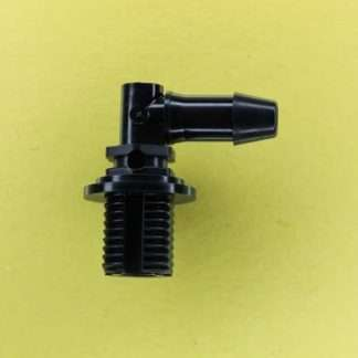 "1328602 (Panel Mounts Elbow - Thread: 1/4 NPS Barb: 1/4"" Material: Black Nylon)"